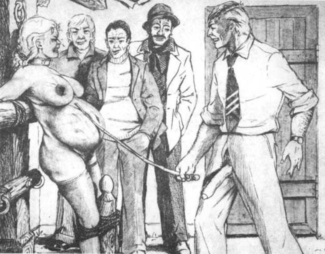 Two girls multiple guys orgy
